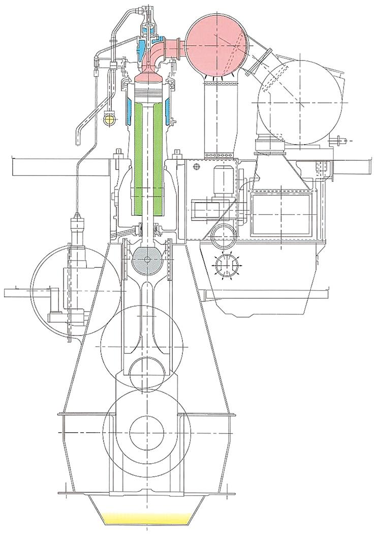 2ストロークエンジン断面図